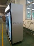 Réfrigérateur en verre triple de boissons d'énergie de porte