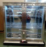 Refrigerador de vidro da barra da parte traseira de porta do balanço dobro com o refrigerador da cerveja do aço inoxidável do certificado do Ce feito em China