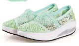 Новые поступления кружево верхней колодки Розовой Леди Sneaker Pimps обувь низкого толстых- Soled раскачивая обувь