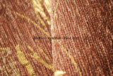 Brown chenilla tapizados en tela de poliéster 100%