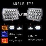 Фара автомобильного освещения супер яркая 5 X 7inch СИД, 45W света высокого луча прямоугольные 12V 24V СИД для тележек