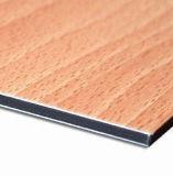 PVDF panneau composite en aluminium en bois pour la décoration