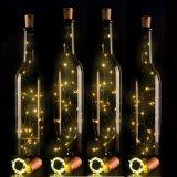 Garrafas de vinho luzes LED de fio de cobre de cortiça luz de String para decoração