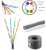 A.C. cable de la red de Ethernet del LAN del CCA Cat5e CAT6 CAT6A Cat7