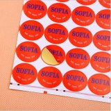 Etiqueta de fruta fresca autocolantes em forma personalizada único lado a impressão de etiquetas