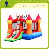 0,60 mm tecido inflável PVC azul para o castelo e de água salgada