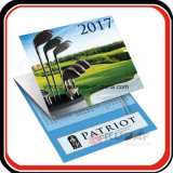 Impressão personalizada de 3 mês do calendário de parede dobrável