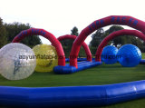 Bola inflable de Zorb de los juegos del agua de PVC/TPU