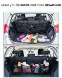 Изготовленный на заказ устроитель заднего сиденья автомобиля полиэфира для хранения с 4 сетчатыми карманн