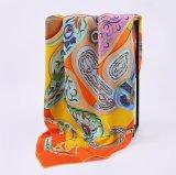 Custom100% цифровой печати шелковые шарфы для леди