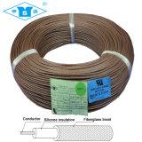 UL3122ガラス繊維の編みこみのシリコーンゴムワイヤーケーブル