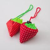 Manufacture Eco Friendly pliable en nylon pliable de fraise Sac avec lacet de serrage