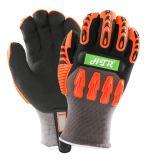 Нитриловые Anti-Impact Окунув теплой зимы Механические узлы и агрегаты рабочие перчатки с TPR