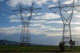 Передающая линия стальная башня силы угла