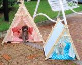 개, 강아지, 고양이를 위한 실내 나무로 되는 인도 애완 동물 천막