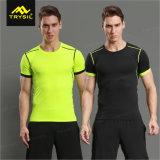 Sport-helle Farben-Shirt-Gymnastik-Hemd-im Freienhemd der Männer