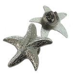 Divisa de plata antigua de la insignia de las ovejas del metal con el corchete de la mariposa (xd-09048)