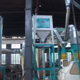 A linha de produção completo para a transformação do milho