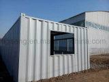 Casa pré-fabricada elevada do painel de sanduíche de lãs minerais da segurança da boa qualidade