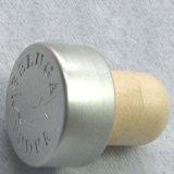 Пробочка полимера вспомогательного оборудования упаковки вина штейновая серебряная верхняя