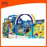 Джунгли парк развлечений для использования внутри помещений детская площадка с роликом слайдов