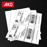 Vert durable de l'impression du papier thermique à haute visibilité 2 étiquettes par feuille Étiquettes d'expédition