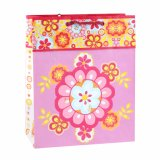 Bolsa de papel colorida del regalo del arte del almacén de ropa del modelo de flor