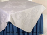 Tissu blanc de Tableau de coton de mariage de banquet d'hôtel