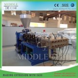 Plastik-PVC/PE/PP+ hölzerner (WPC Zusammensetzung) breiter hohler Tür-Vorstand/Panel-Strangpresßling-Produktionszweig