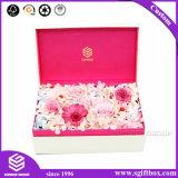 花のためのCustomziedの黒い正方形の花のギフト用の箱の板紙箱