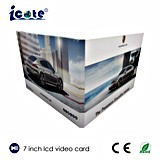 Folleto video video del saludo Card/LCD del LCD para el anuncio