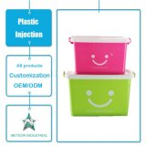 Modelagem por injeção plástica de contenção plástica durável personalizada da caixa para artigos do agregado familiar