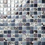 Mattonelle di mosaico metalliche lustrate argento poco costoso della porcellana di prezzi