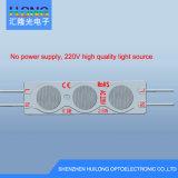 AC220V impermeabilizan la publicidad del módulo de la inyección de la luz pilota LED del rectángulo