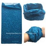 中国の工場農産物はロゴによって印刷された青いポリエステルスキー多機能の管状のHeadwearをカスタマイズした
