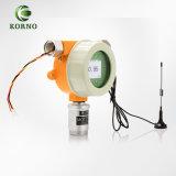 Detetor de gás fixo industrial do hidrogênio H2 de Combustiable do registador de dados