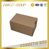 Caisse d'emballage de papier de côté de repli de Brown Papier d'emballage
