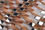 Salle de bains Rainbow face verre ondulé Décoration maison cascade Mosaïque