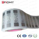 Étiquette de marqueterie d'IDENTIFICATION RF de fréquence ultra-haute Ucode G2im de long terme de supply chain management