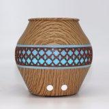 Diffuseur en bois en bambou d'huile essentielle d'arome des graines d'aromathérapie de mini éclairage LED électrique ultrasonique d'humidificateur avec du brouillard frais