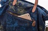 Sacchetto della cinghia di cuoio del sacchetto di Tote della Canvas Vintage della signora