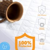 Luxury Quilted Protector de colchão antibacteriano impermeável