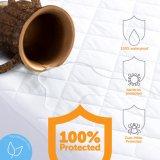 Protetor anti-bateriano impermeável acolchoado luxo do colchão