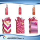 Regalos personalizados de papel con asas de cinta de embalaje (XC-1-044)