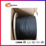 4 Core G657A1 LSZH fibra FTTH exterior de aço Cabo de Descida