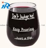 プラスチックによってカスタマイズされるワイングラスのコーヒーカップ