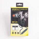 Le mani liberano la cuffia avricolare con il trasduttore auricolare di Bluetooth di sport della cuffia avricolare di Bluetooth di sport del Mic con il microfono