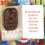 Santa's personalizados de la cuenta regresiva de 24 días calendario de Adviento sin Chocolates