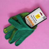 コンピュータの女性の調理のための自動編むPVCによって点を打たれる綿手の手袋