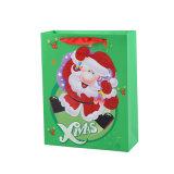리본 손잡이 (YH-PGB037)를 가진 주문품 선물 종이 봉지 크리스마스